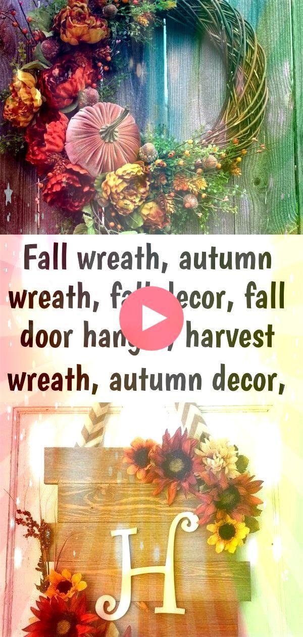wreath autumn wreath fall decor fall door hanger harvest wreath autumn decor pumpkin de 9 Fall Wreath Autumn Wreath Fall Decor Fall Door Hanger  Etsy 51 creative front do...