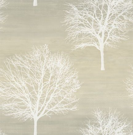 Sherwin Williams wallpaper Tree silhouette, Contemporary