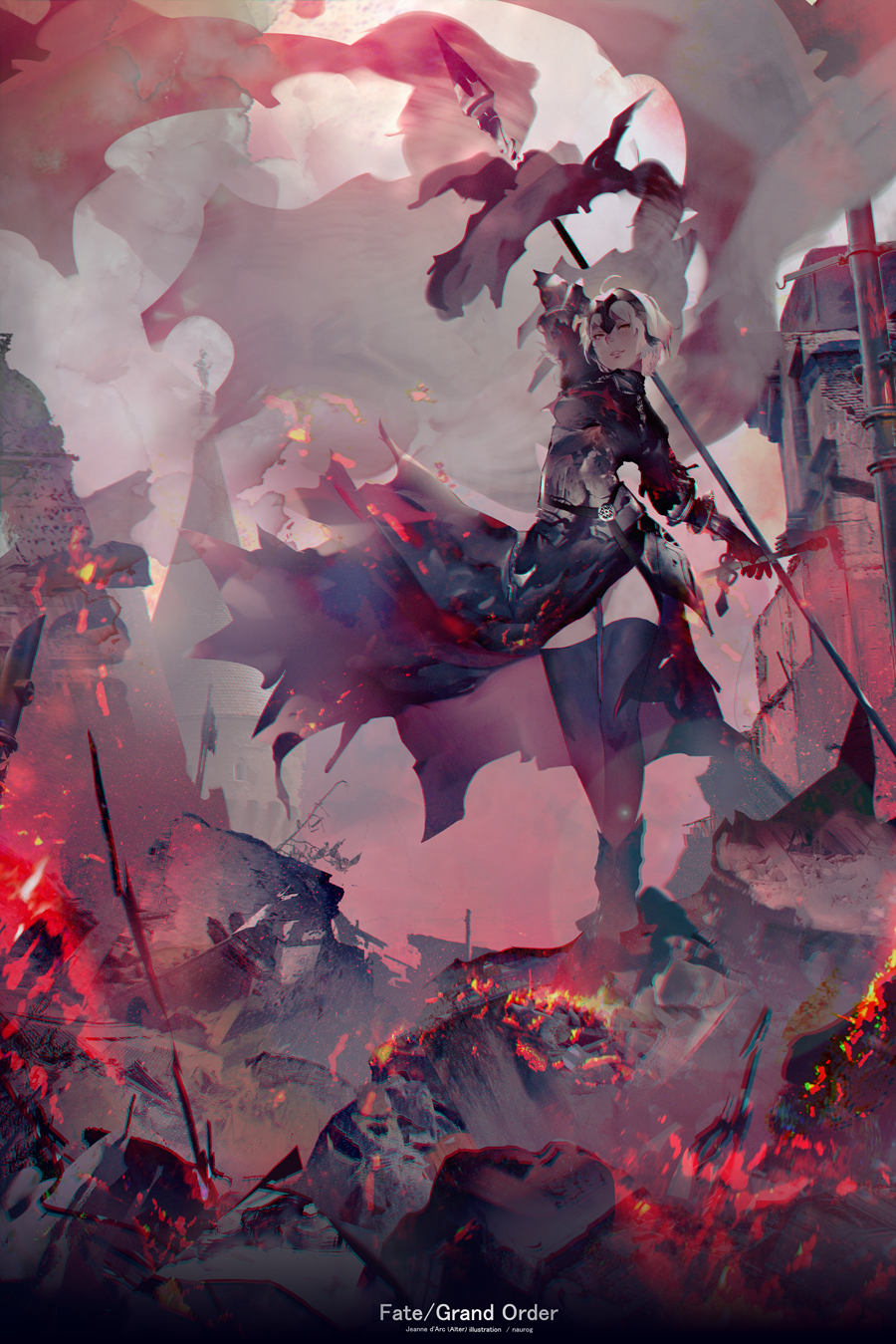 Fate Grandorder Jeanne D Arc Alter Naurogのイラスト Arte De Anime Personajes De Fantasia