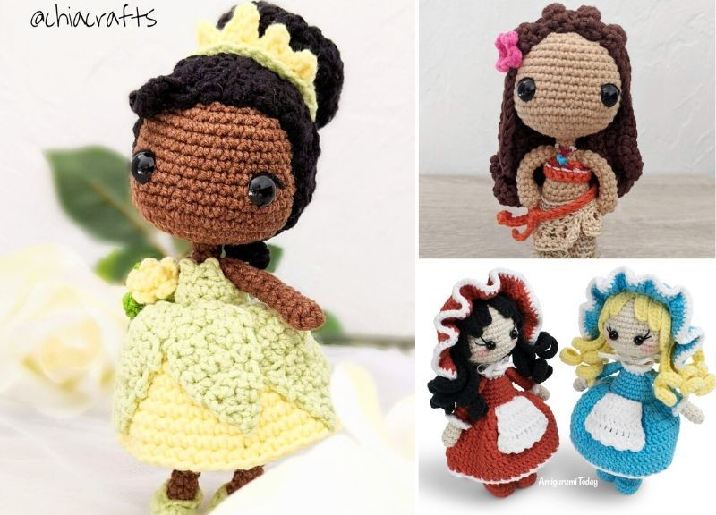 Amigurumi Crochet little lady girls rattle toy and doll|Baby ... | 576x800