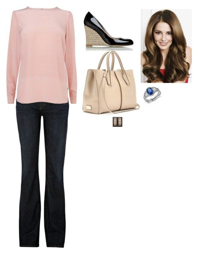 """Lunch at her Parents In Law's House to Celebrate that her Sister In Law is Pregnant"" by fashion-royalty ❤ liked on Polyvore featuring Citizens of Humanity, L.K.Bennett, Bloomingdale's, Blue Nile and Tod's"