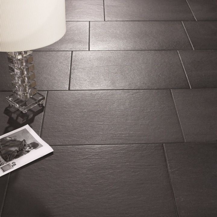 Beautiful Slate Effect Flooring In Stylish Black Or White Colours