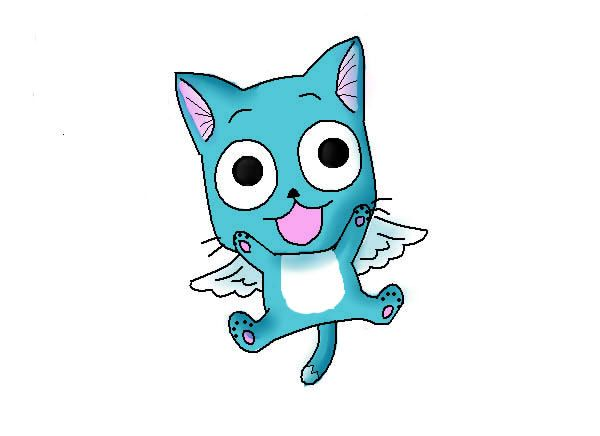 Happy The Cat From Fairy Tale Fairy Tail Happy The Cat By