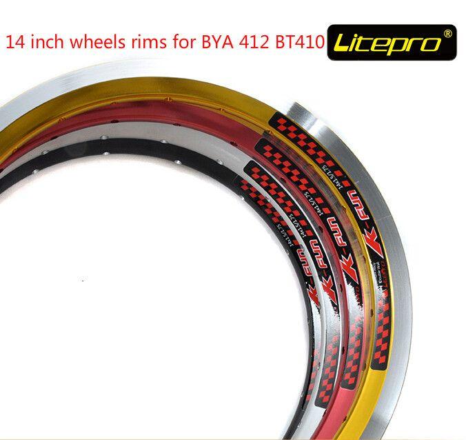"""Clincher wheel ring 14/"""" inch bike rim folding bicycle 412 wheels rim Al 20 Hole"""