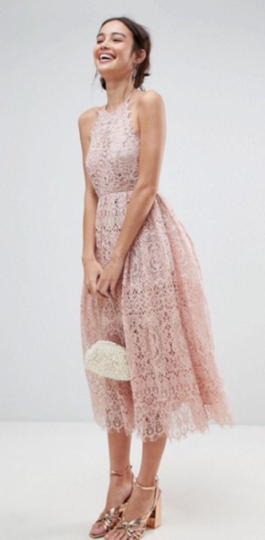 ASOS Lace Pinny Scallop Edge Midi Prom Dress | Prom Dress, Ball Gown ...