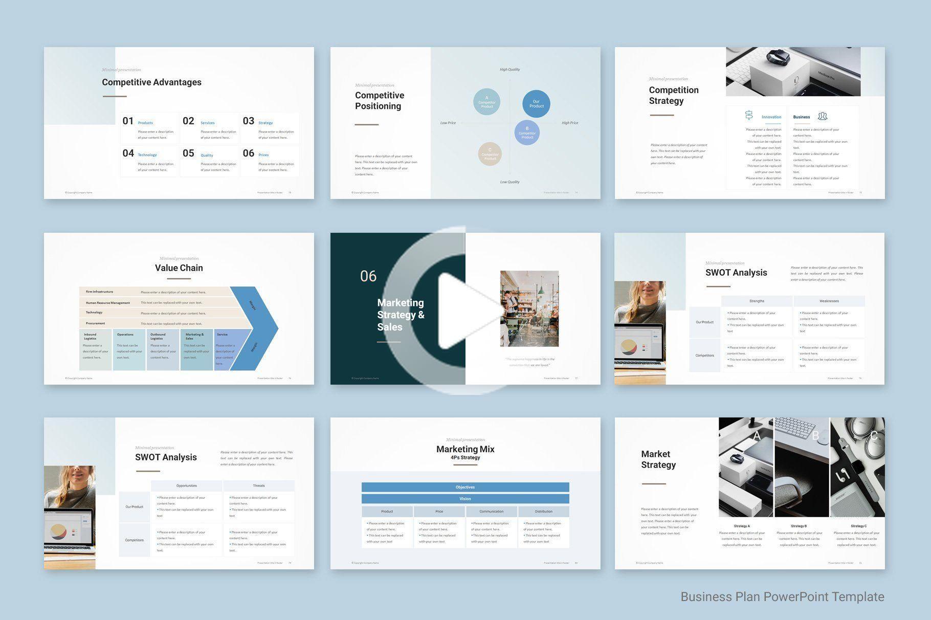 Business Plan PowerPoint 2019 , sponsored, ModelTarget
