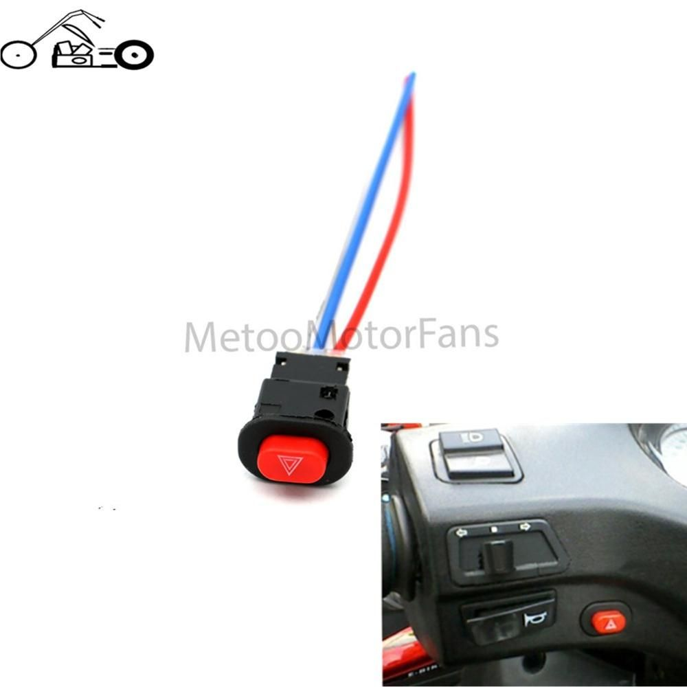 1pcs Motorcycle Switch Hazard Light Switch Button Double Flash ...