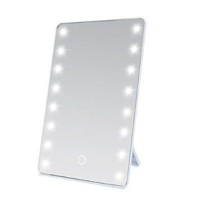 Wawoo Make Up Spiegel Mit Led Beleuchtung Dimmbar Durch Touch