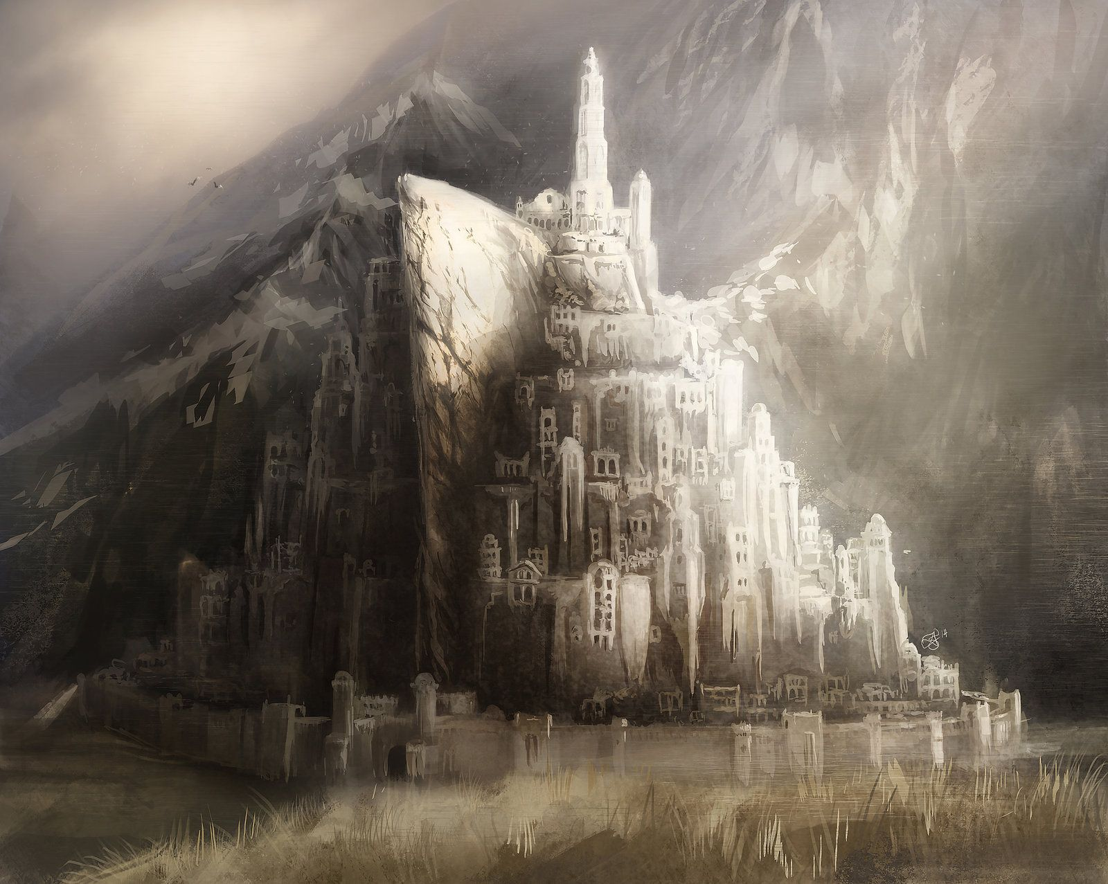Minas Tirith Speed Paint By Direimpulsedeviantartcom On
