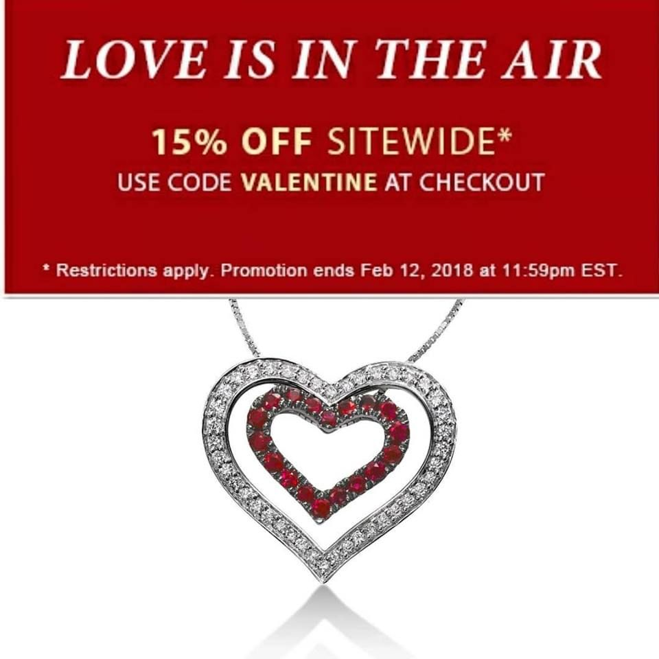 Today is the LAST DAY before VALENTINE'S DAY to save 15% sitewide! Order online and pick up in store! PLUS, WE'RE OPEN TODAY - unlike most Mondays. Visit fortunoffjewelry.com.  This very pretty and unusual 14k white gold necklace has two hearts, one inside the other. The inner heart is set with almost a half carat of rubies, the outer with a almost a third of a carat of diamonds. They may be worn individually or together. Chain length is 18 inches.