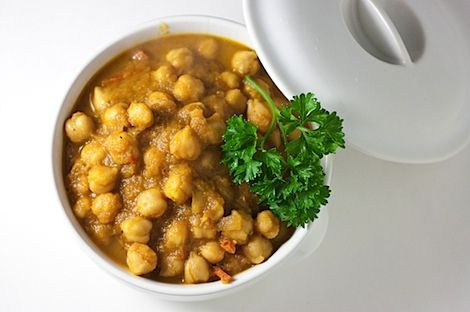 Easy Chana Masala. I never knew how easy this was to make till my Indian co-worker shared her recipe with me! I posted an adapted version of her recipe on my blog.