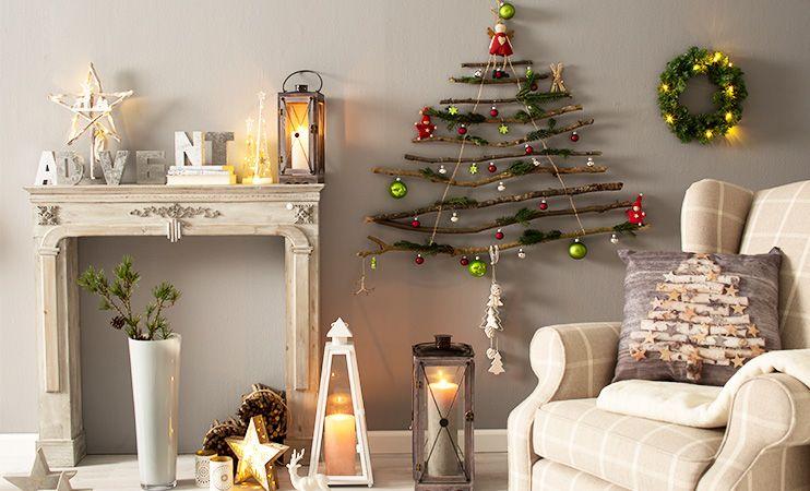 Weihnachtsbaum 🎄 für die Wand. Ideal für kleine Wohnungen oder wenn man Haustiere hat! Ganz einfach selber machen!