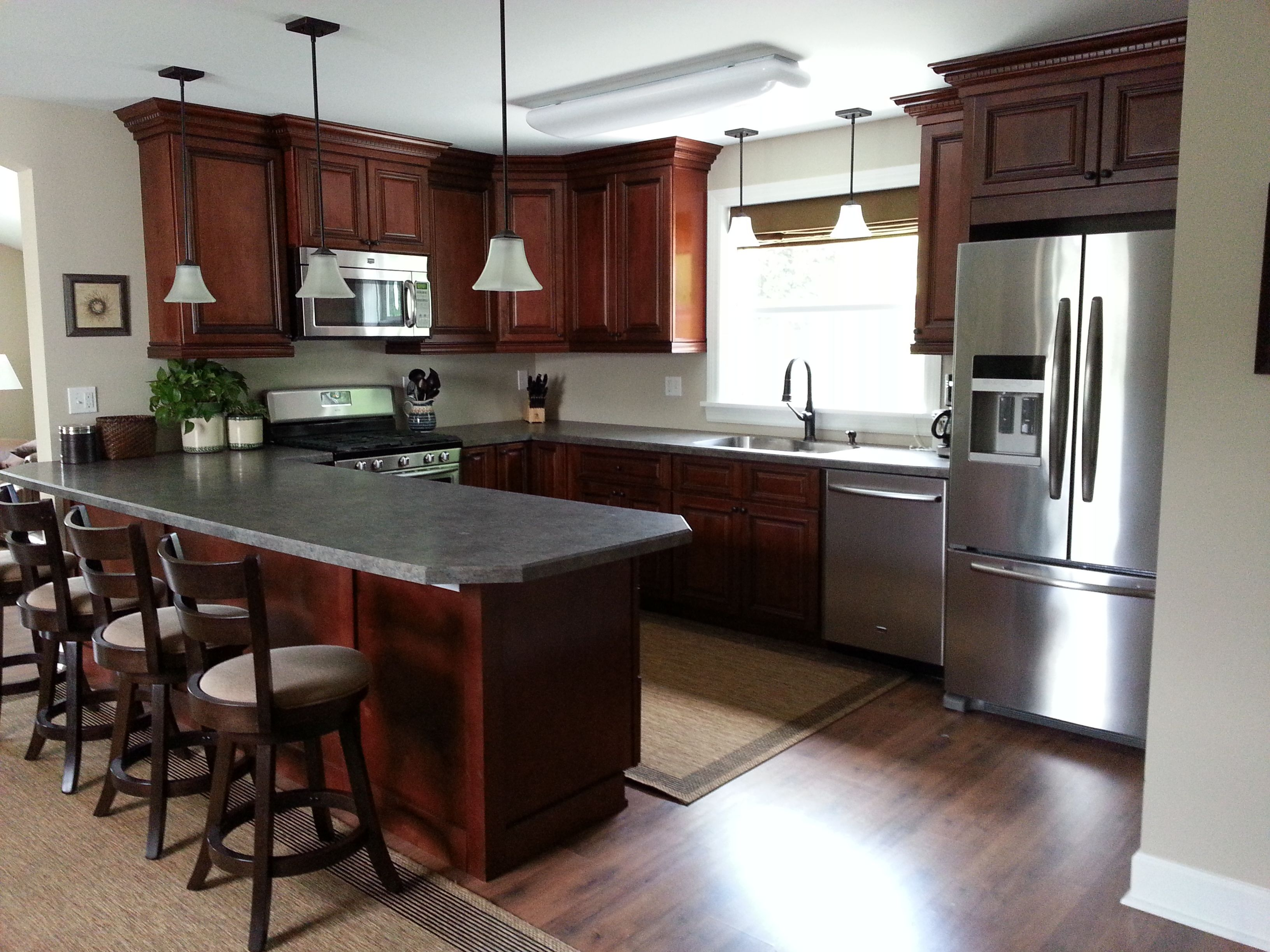 My Kitchen Brandywine Cabinets In Kitchen Work Area Extended Counter For