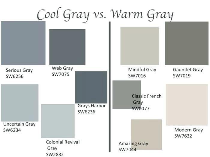 Cool Grey Color Grays Palette Names