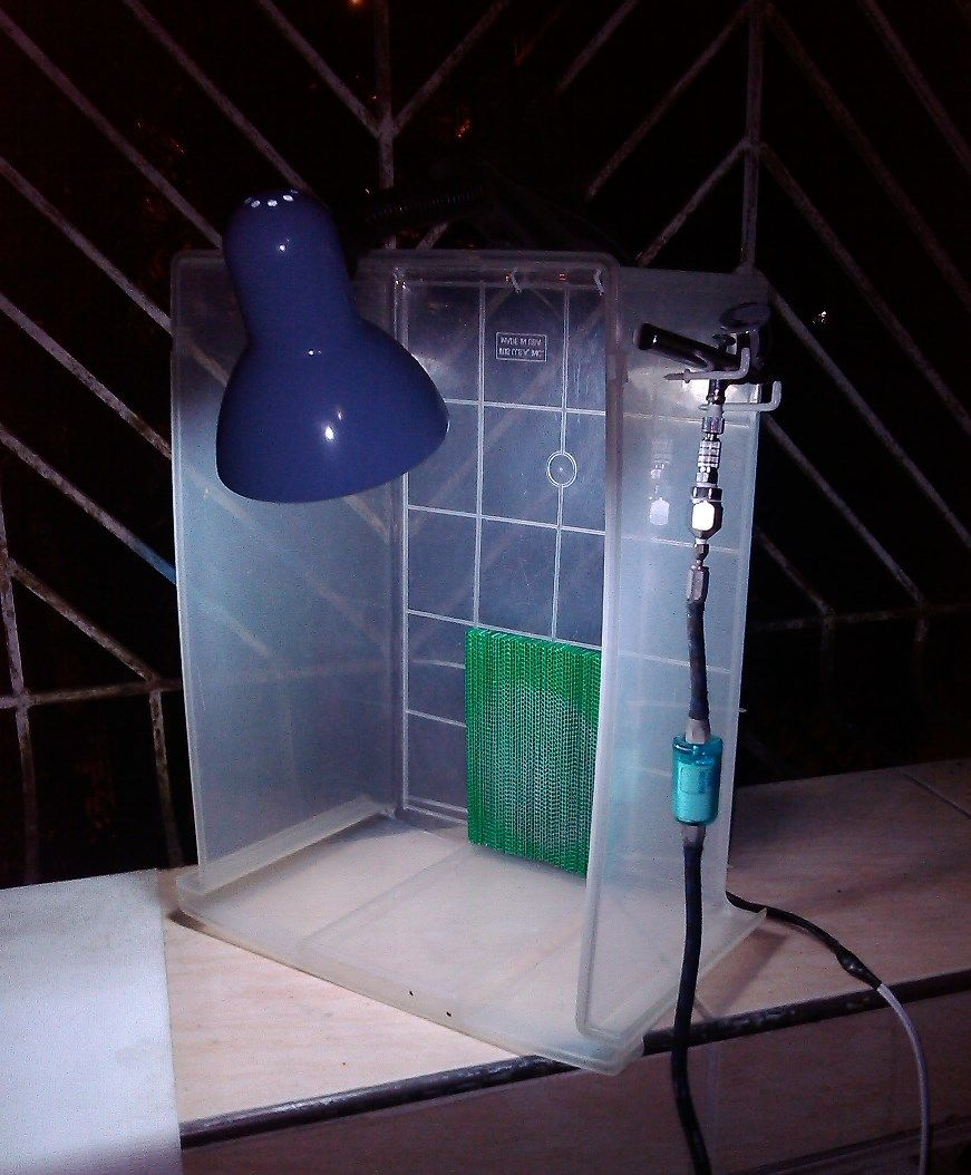 Diy airbrush spray booth in 3 easy steps airbrush spray