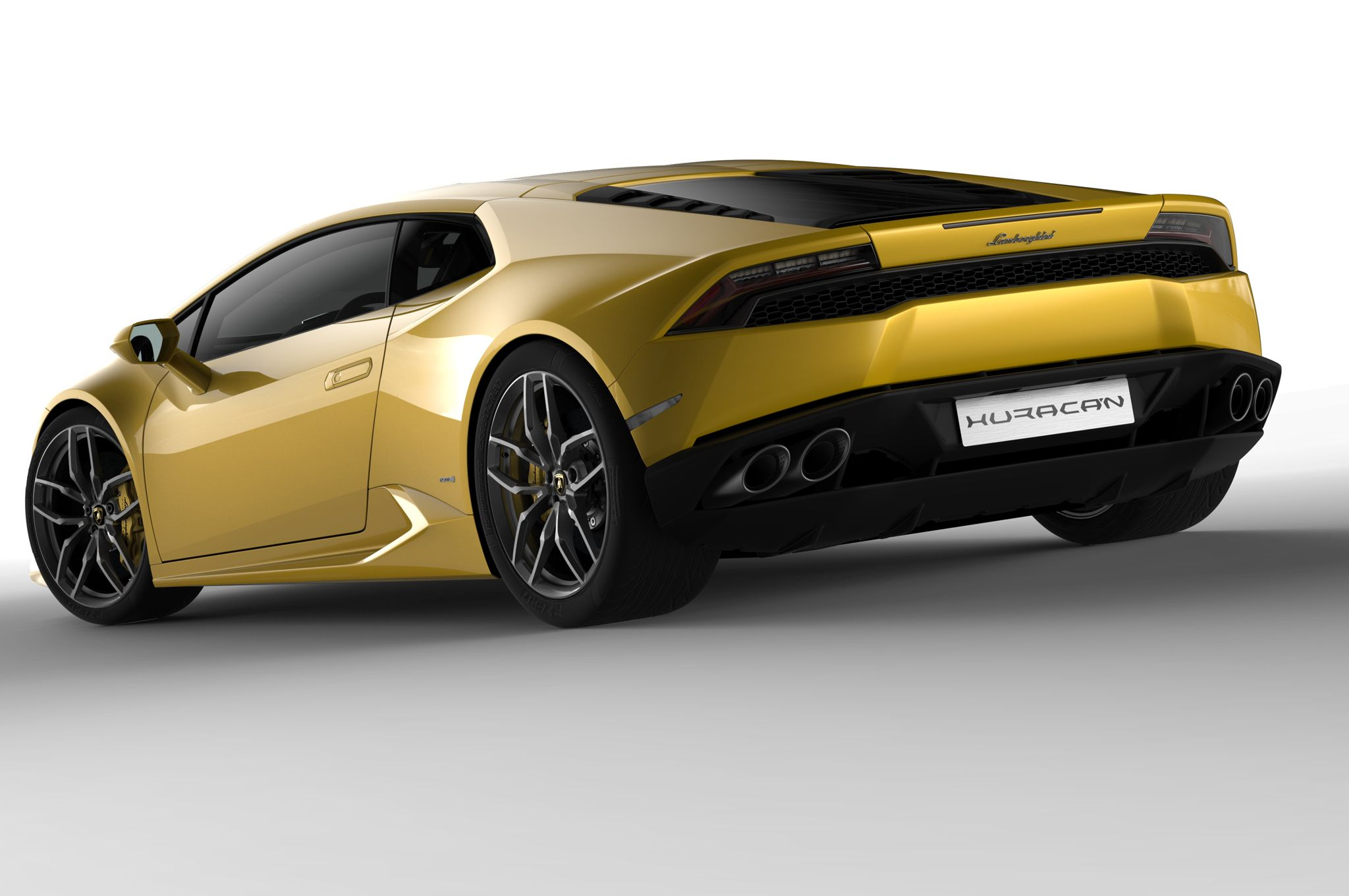 2015-Lamborghini-Huracan-yellow-rear-three-quarters.jpg 2,048×1,360 pixels