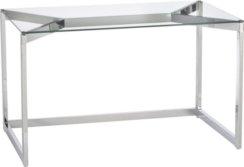 Tesso Chrome Desk Modern Home Office Furniture Office Furniture Modern Furniture