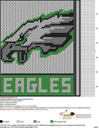 Eagles Notebook Cover Plastic Canvas Stitches Plastic