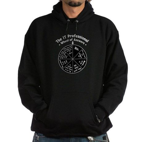 FOR JAMES!!!!  IT Wheel of Answers Hoodie on CafePress.com