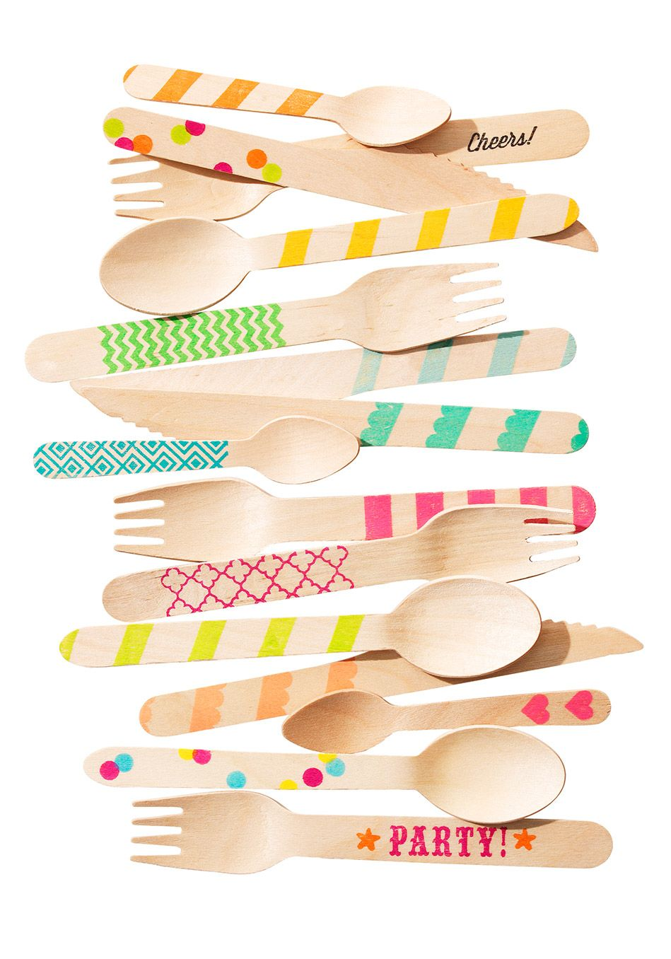 Hand-made spoons from disposable ones
