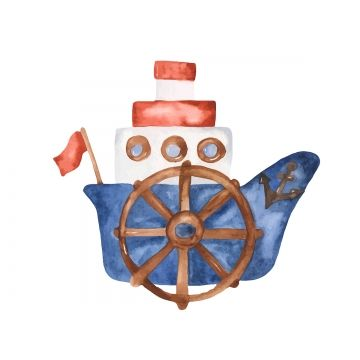 Watercolor Cute Cartoon Boat Clipart Boat Clipart Adventure Boat Png And Vector With Transparent Background For Free Download Boat Cartoon Clip Art Cute Cartoon