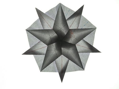 Double twist-star from pentagon, backlit