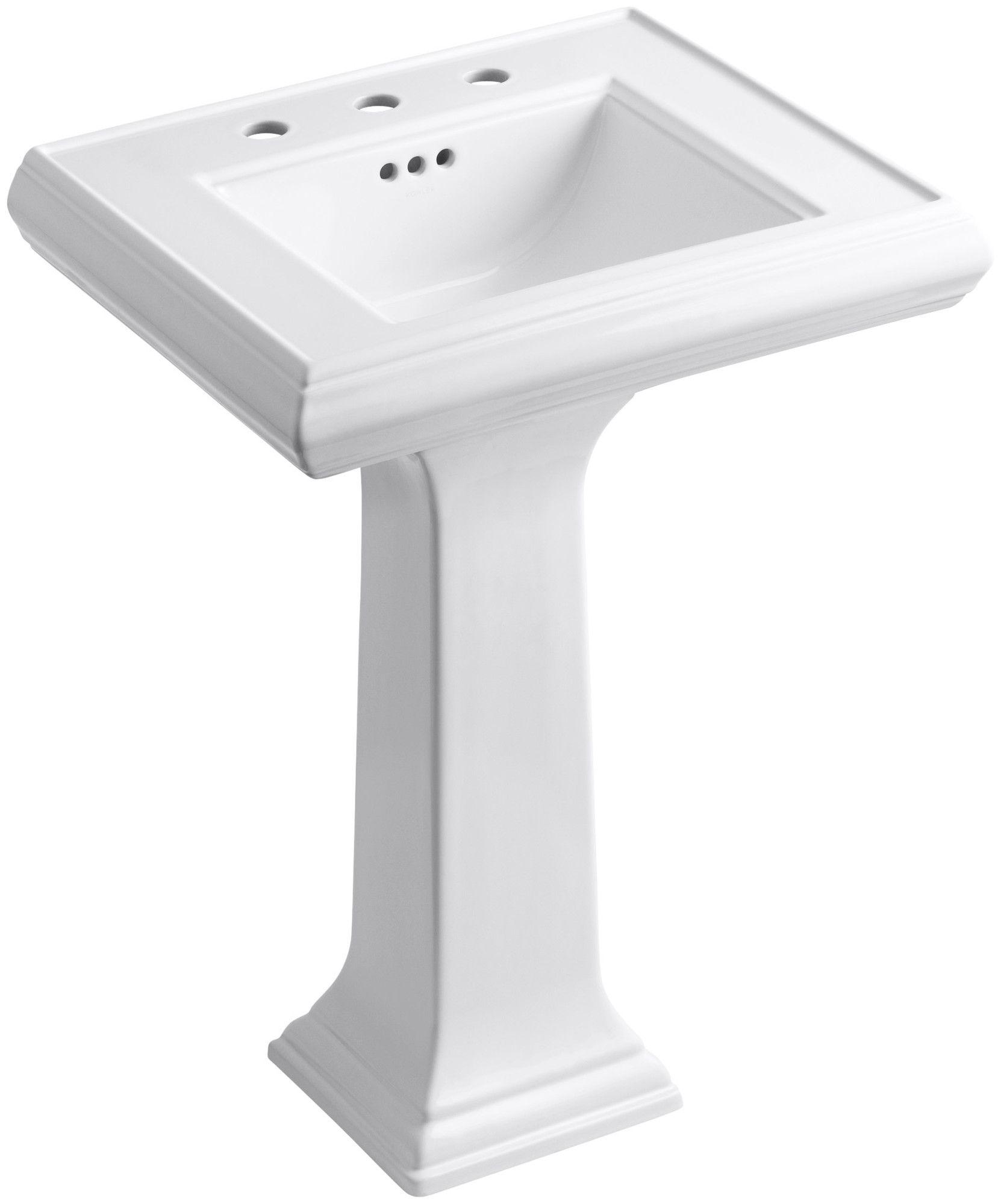 Memoirs Ceramic 24 Pedestal Bathroom Sink With Overflow Kohler