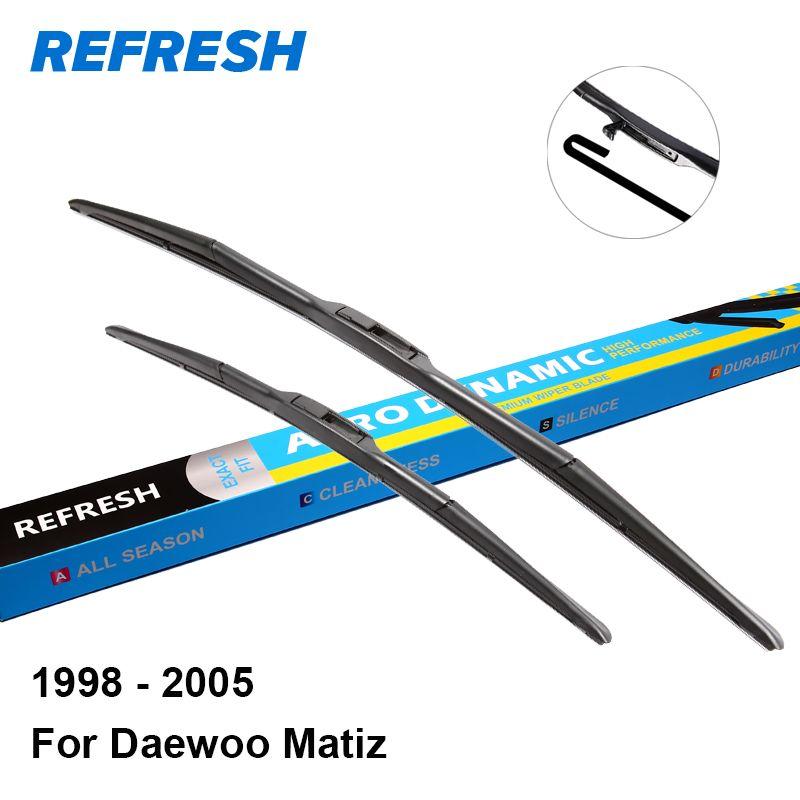 "Refresh Wiper Blades For Daewoo Matiz 21""&16"" Fit Hook"