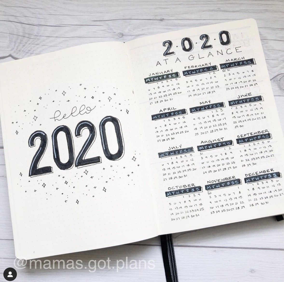 20+ January Bullet Journal Cover Page Ideas - The Smart Wander | Citazioni Italiane ?