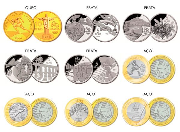 Moedas Comemorativas Das Olimpiadas 2016 Moedas Comemorativas