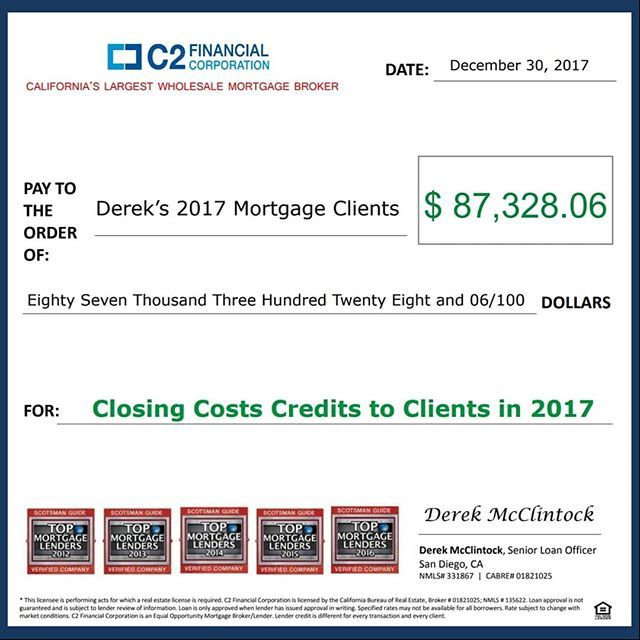 OVER $87,000 What a great year to be my client! Realtors, I would