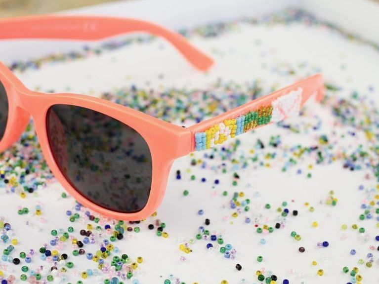 diy sunglasses and cute beads