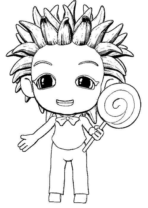 The Boy Eat Lollipop Coloring Page | Cookie | Coloring ...
