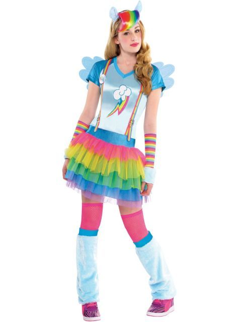 fb861470d5cc4 Teen Girls Rainbow Dash Costume - My Little Pony - Party City ...