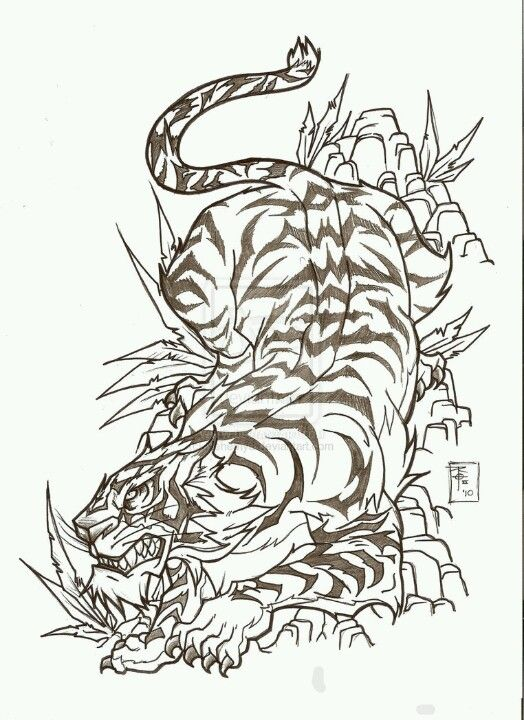 Awesome tiger, who ever drew this is awesome | Your bodys ...
