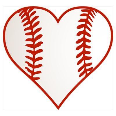 Download Baseball heart | Baseball vinyl decal, Sports nails