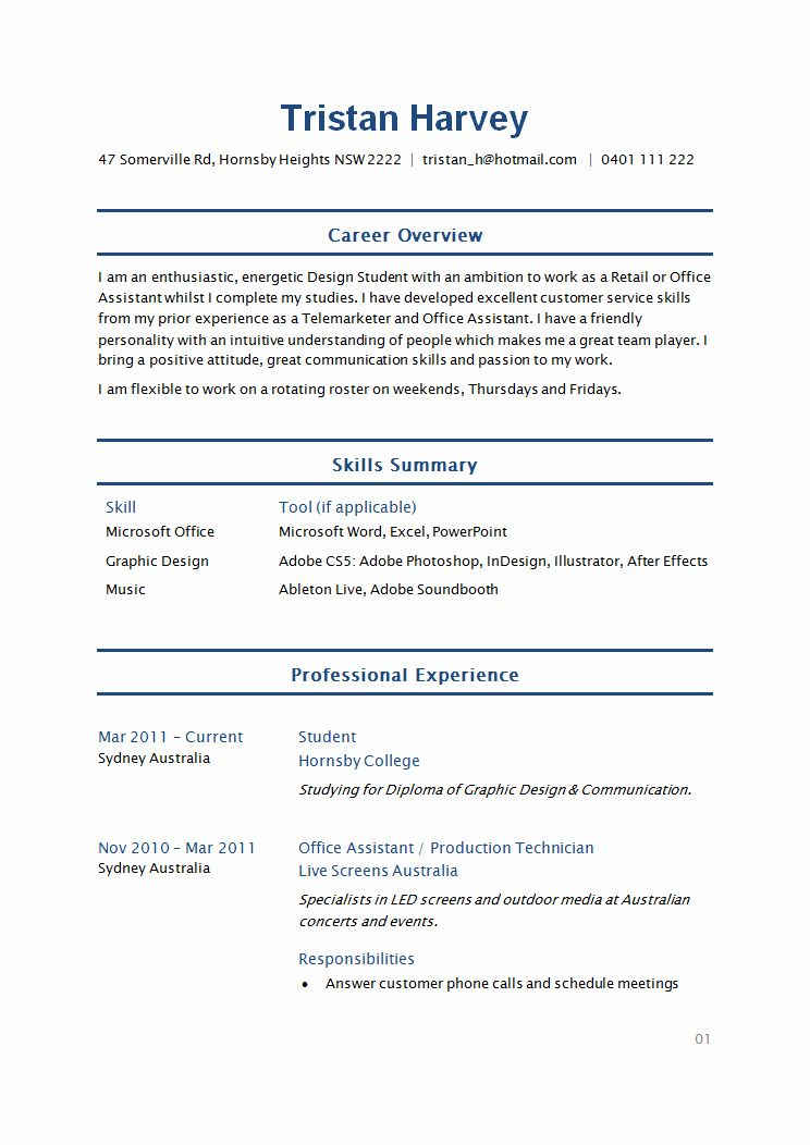20 Executive assistant Resume 2020 Student resume