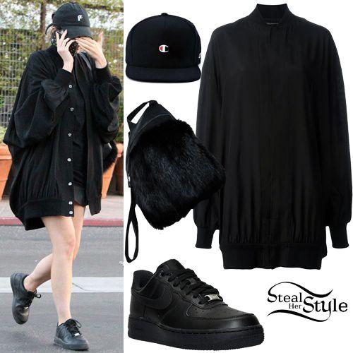 Kylie Jenner: Long Bomber Jacket, Black Sneakers (Steal Her