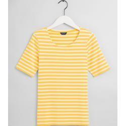 Photo of Gant Rib T-Shirt mit zeitem Arm (Gelb) Gant