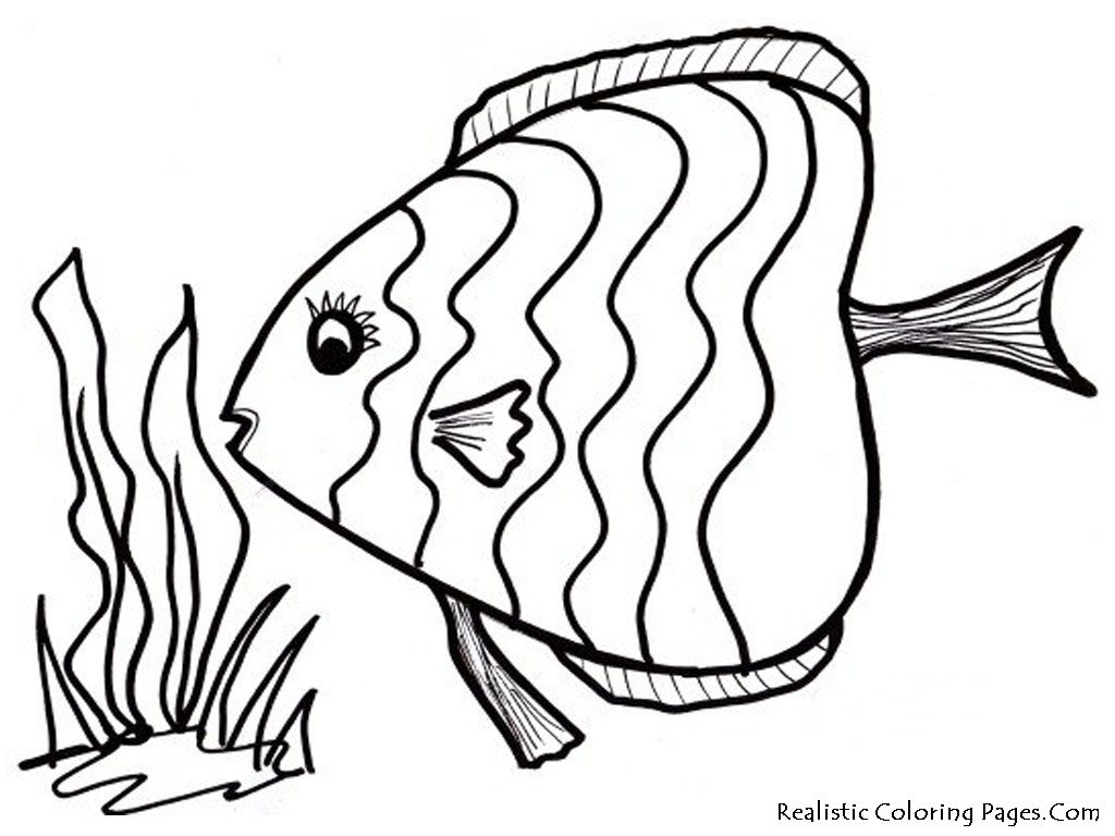 Tropical Fish Coloring Pages 01  Idea for childs sea quilt or