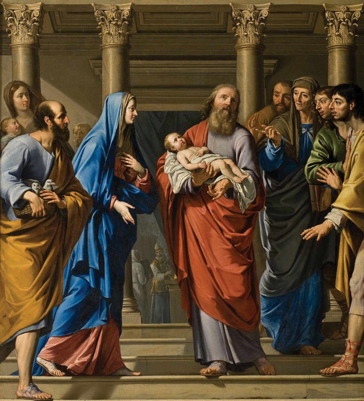 La liturgia diaria meditada - María presenta a Jesús en el Templo ...
