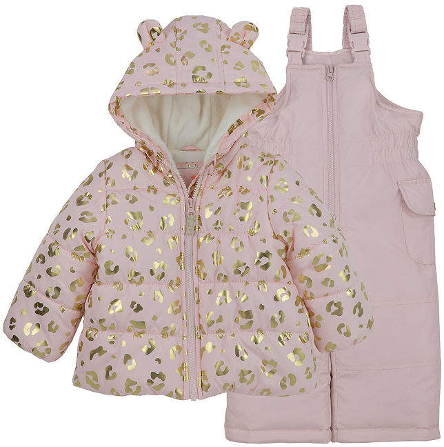b12176eb159a Carter s 2-Pc. Leopard Snowsuit Set - Baby Girls in 2018