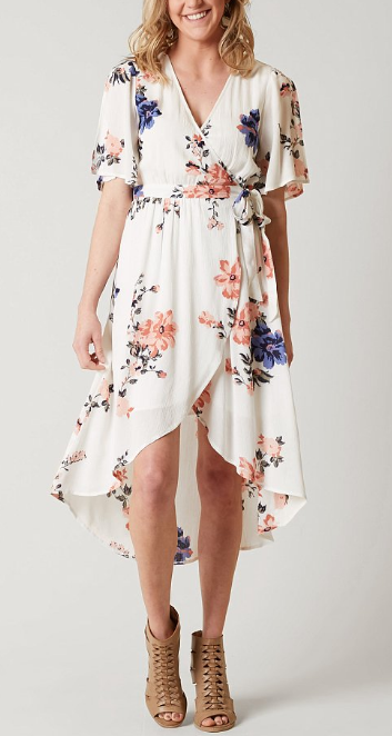 44+ Long floral wrap dress information