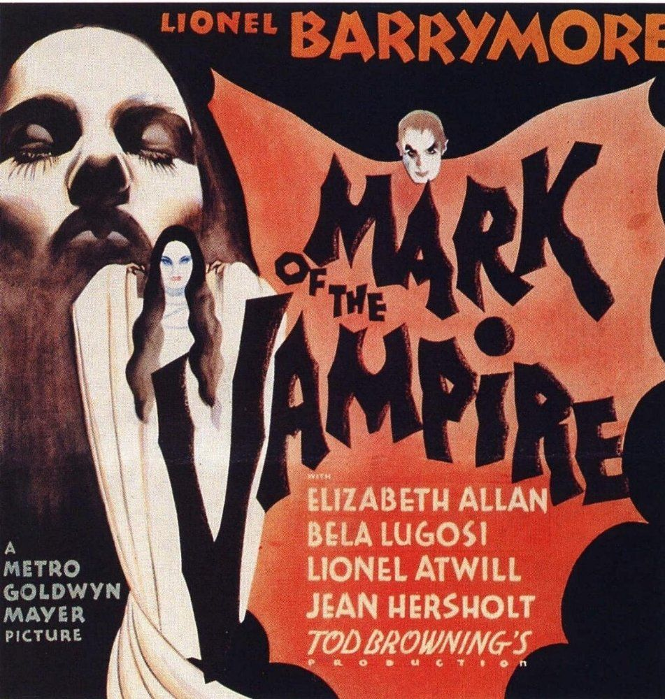 Bela Lugosi And Carroll Borland In Mark Of The Vampire 1935 Vampire Movies Classic Horror Movies Horror Posters