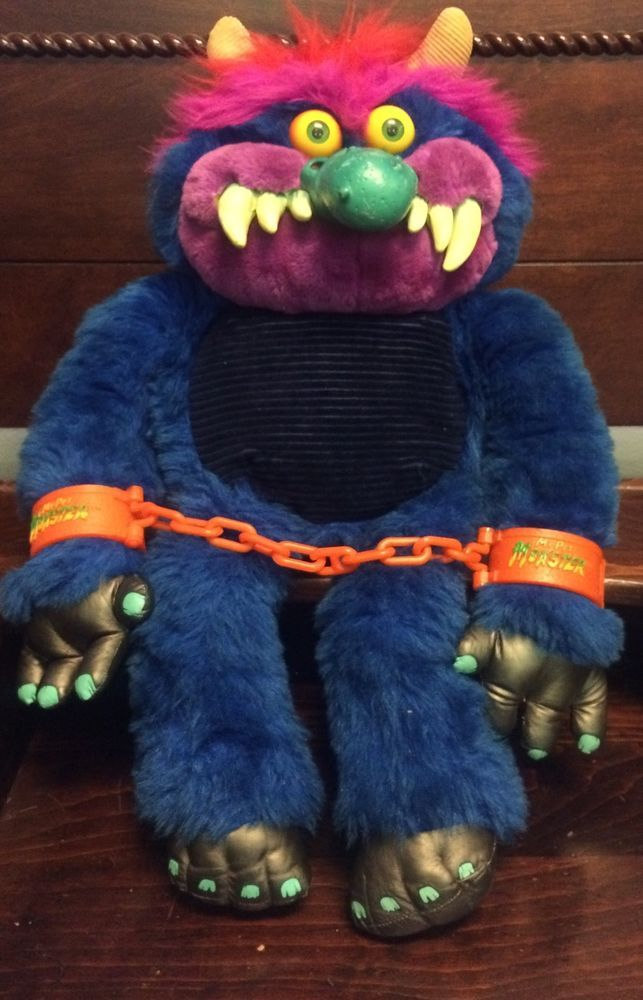 Vintage 1986 My Pet Monster With Handcuffs Excellent Condition