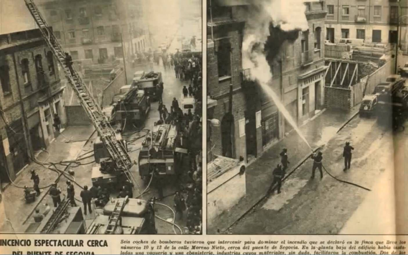 Incendio en la calle Moreno Nieto 10-12. Madrid