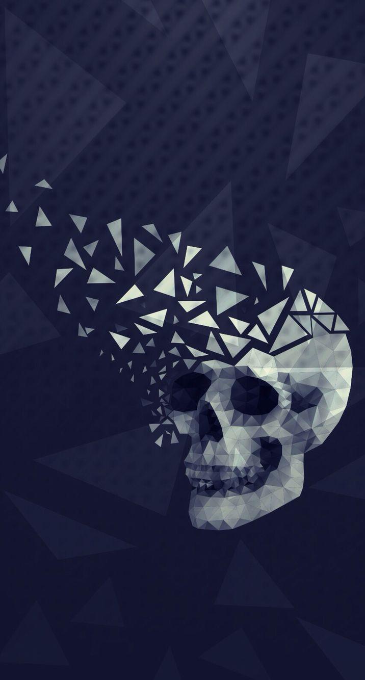 Pin By Krushna Desai On Wallpapers Geometric Art Skull Artwork Skull Art