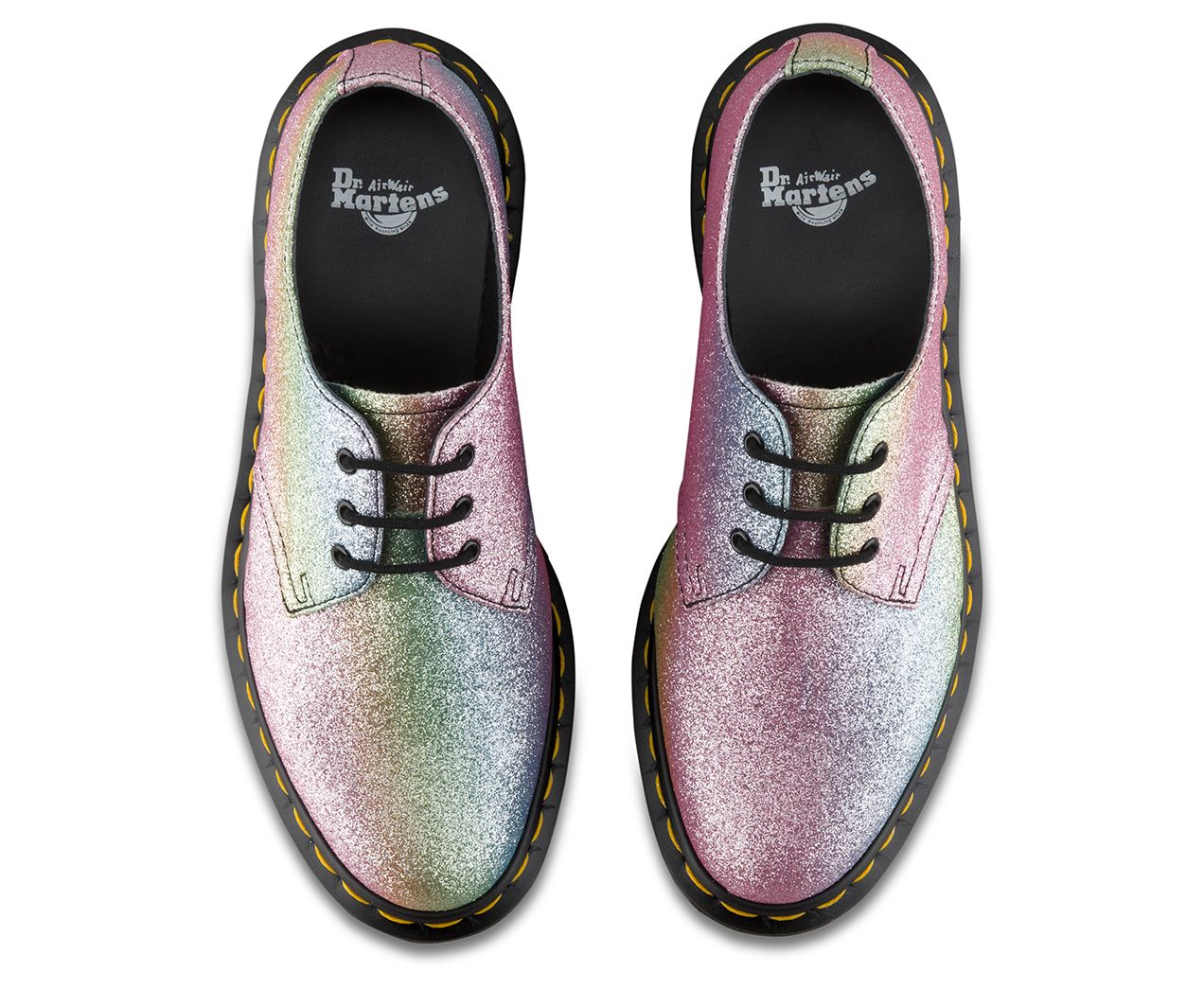 Dr. Martens 1461 Rainbow Glitter 3-Eye Shoe 9xCcQYB5f