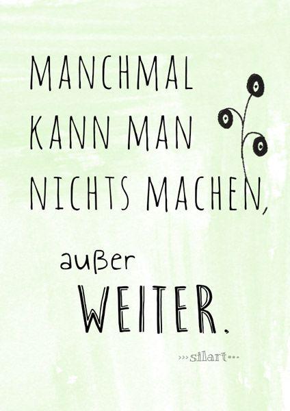 Weiter Machen Lettering Card Quote Art Word Art Statements