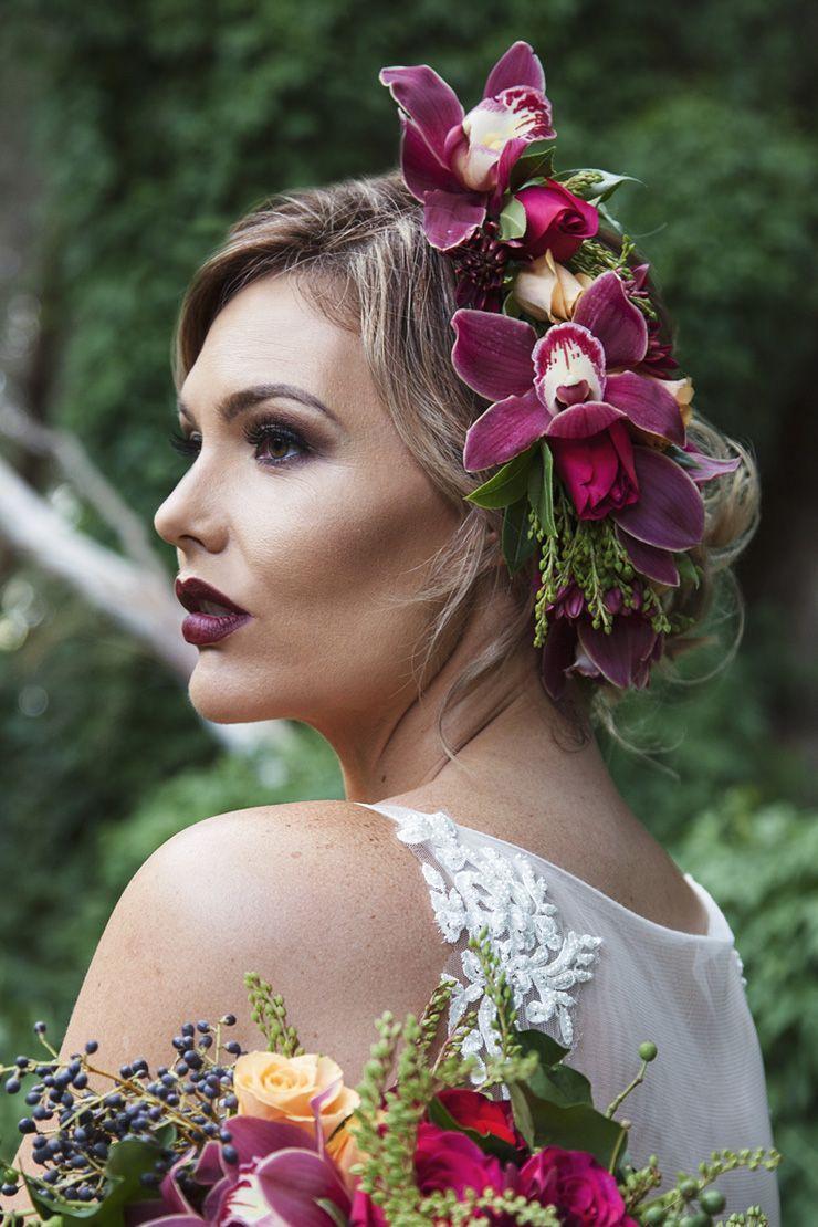 Plum orchid flower crown wedding hair taylor mitchell photography plum orchid flower crown wedding hair taylor mitchell photography izmirmasajfo